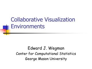 Collaborative Visualization Environments