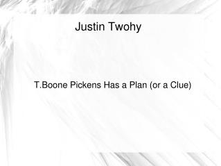 Justin Twohy