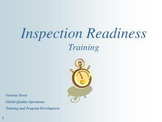 Inspection Readiness Training