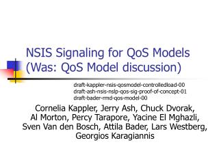 NSIS Signaling for QoS Models (Was: QoS Model discussion)