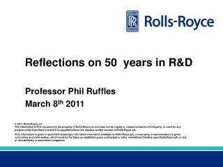 Reflections on 50  years in R&D
