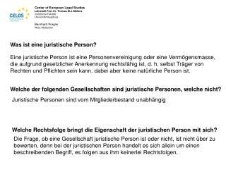 Was ist eine juristische Person?