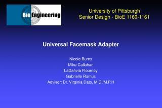 University of Pittsburgh Senior Design - BioE 1160-1161