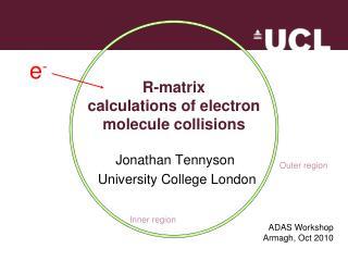 R-matrix  calculations of electron  molecule collisions