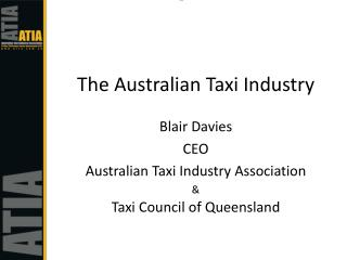 The Australian Taxi Industry