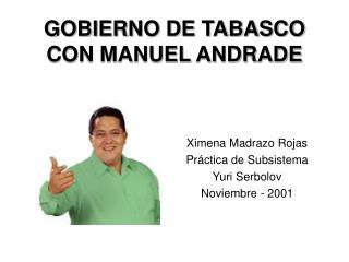 GOBIERNO DE TABASCO CON MANUEL ANDRADE