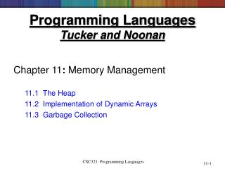 Programming Languages Tucker and Noonan