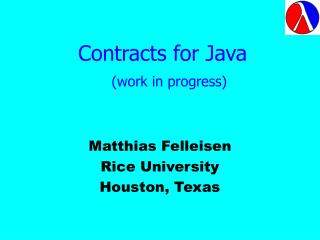 Contracts for Java  (work in progress)