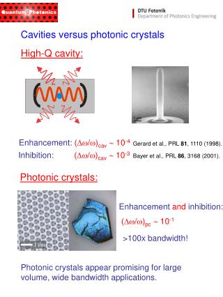 High-Q cavity: