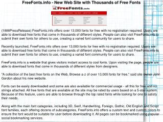 FreeFonts.info - New Web Site with Thousands of Free Fonts