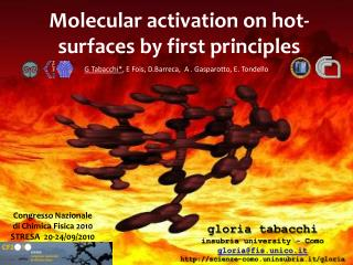 Molecular activation on hot-surfaces by first principles