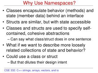Why Use Namespaces?