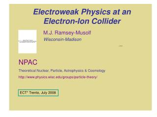 Electroweak Physics at an Electron-Ion Collider