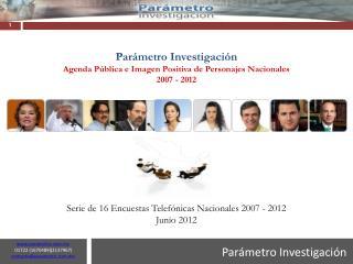 Parámetro Investigación Agenda Pública e Imagen Positiva de Personajes Nacionales  2007 - 2012