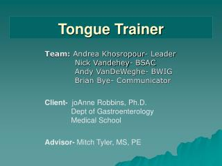 Tongue Trainer