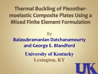 Thermal Buckling of Piezother-moelastic Composite Plates Using a Mixed Finite Element Formulation