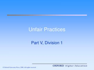 Unfair Practices