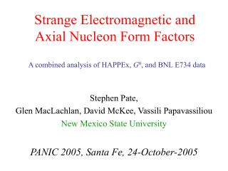Strange Electromagnetic and Axial Nucleon Form Factors