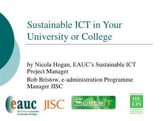 Sustainable ICT in Your University or College