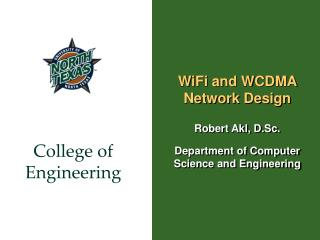 WiFi and WCDMA Network Design