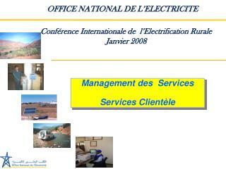 Management des  Services Services Clientèle