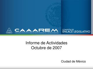 Informe de Actividades Octubre de 2007