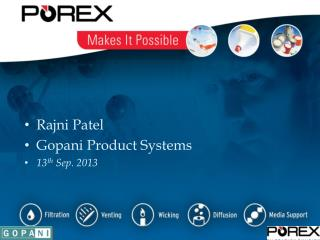 Rajni  Patel Gopani  Product Systems 13 th  Sep. 2013