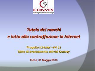 Tutela dei marchi  e lotta alla contraffazione in Internet Progetto  ICT4LAW – WP 11