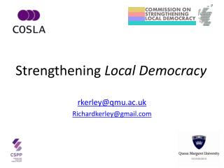 Strengthening  Local Democracy