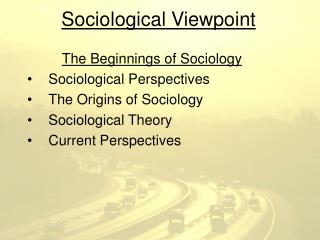 Sociological Viewpoint