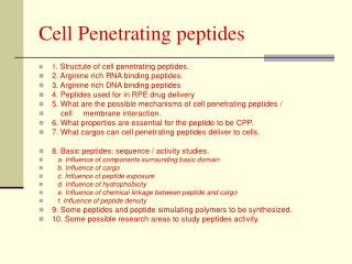 Cell Penetrating peptides