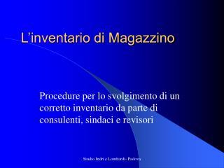 L'inventario di Magazzino