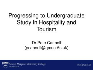 Progressing to Undergraduate Study in Hospitality and Tourism