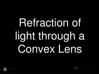 Refraction of light through a Convex Lens