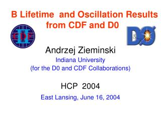 B Lifetime  and Oscillation Results from CDF and D0