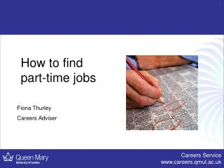 How to find  part-time jobs