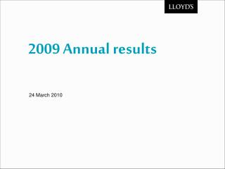 2009 Annual results