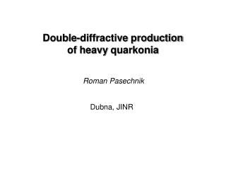 Double-diffractive production  of heavy  quarkonia