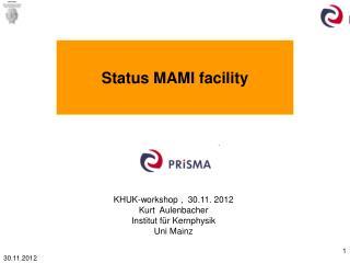 Status MAMI facility