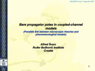 Bare propagator poles in coupled-channel models