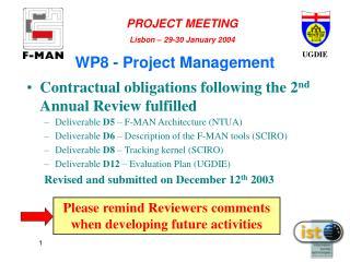 WP8 - Project Management