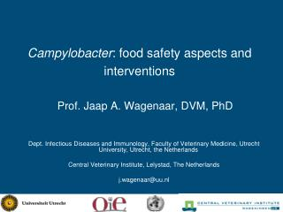 Campylobacter : food safety aspects and interventions