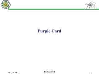 Purple Card