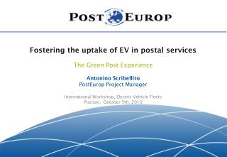 Fostering the uptake of EV in postal services