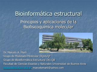 Bioinform�tica estructural