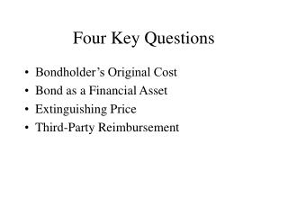 Four Key Questions