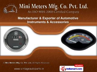Oil Air Pressure Gauges   & Fuel Gauges