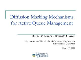 Diffusion Marking Mechanisms for Active Queue Management