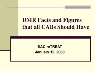 DMR Facts and Figures that all CABs Should Have
