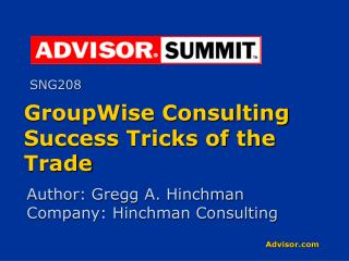 GroupWise Consulting Success Tricks of the Trade